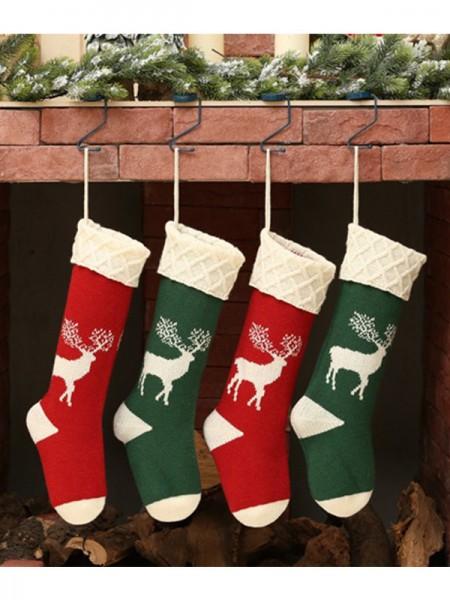 Christmas Comfortable With Deer Acrylic Socks