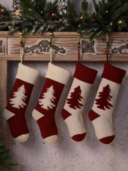 Christmas Comfortable With Tree Acrylic Socks