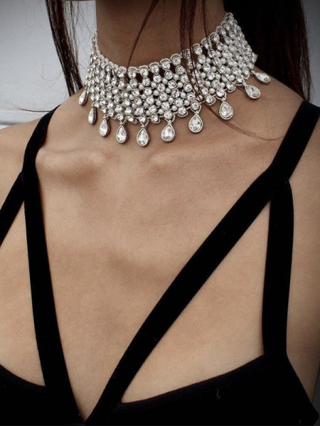 Beautiful Alloy With Rhinestone Chokers For Women