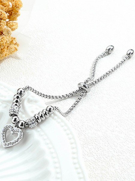 Brilliant Titanium With Rhinestone Bracelets For Women