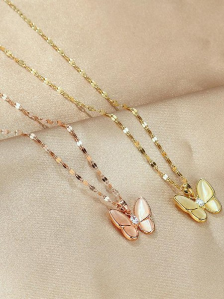 Fashion Hot Sale Titanium With Butterfly Necklaces