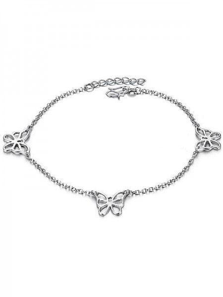 Gorgeous Titanium Hot Sale With Butterfly Anklets