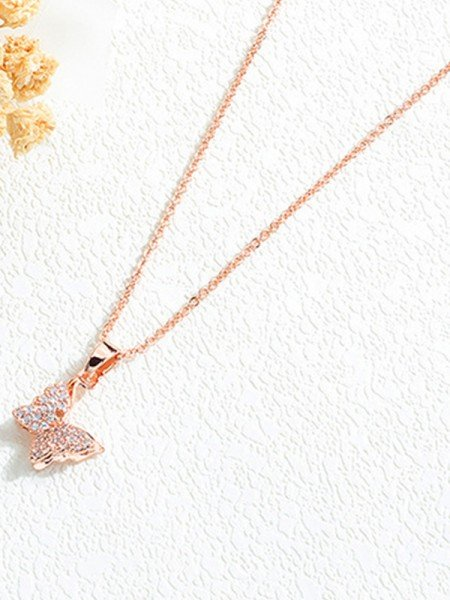 Pretty Titanium With Butterfly Hot Sale Necklaces