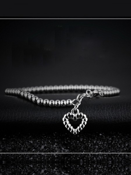 Beautiful Titanium With Heart Bracelets For Women