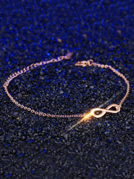 Pretty Titanium With Bowknot Chain Bracelets For Women