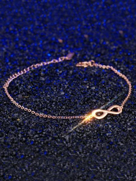 Pretty Titanium With Bowknot Chain Bracelets For Women