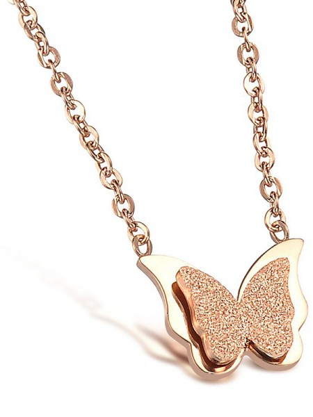 Fashion Titanium Hot Sale With Butterfly Necklaces