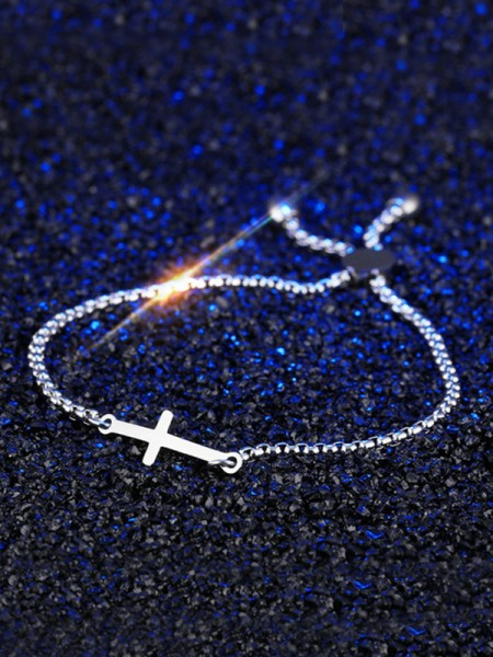 Fashion Titanium With Cross Chain Bracelets For Women