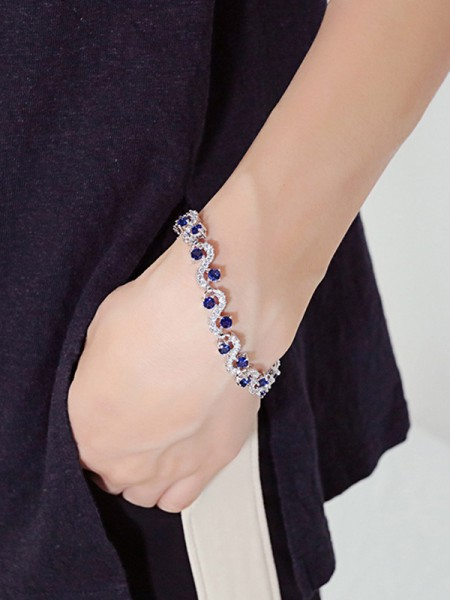 Ladies' Hot Sale Copper Rhinestone Bracelets
