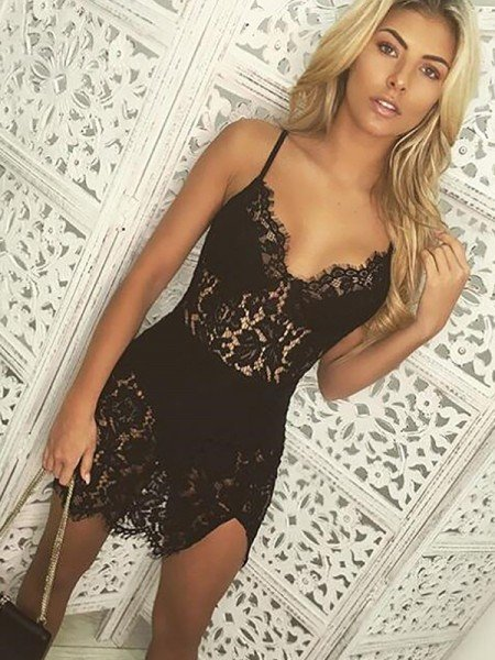 Sexy Spaghetti Straps Polyester Night Wear