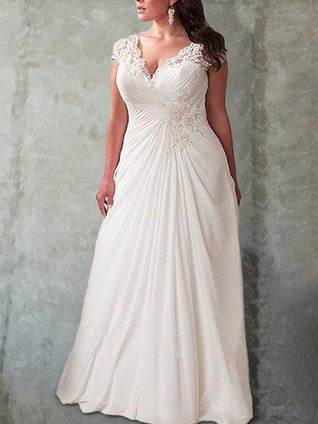 Plus Size Wedding Dresses, Cheap Wedding Dresses Plus Size 2019 - Hebeos