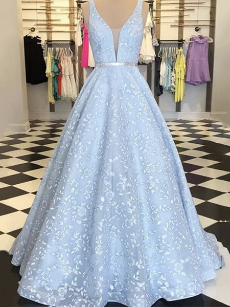 A-Line/Princess Sleeveless Satin Applique Straps Floor-Length Dresses