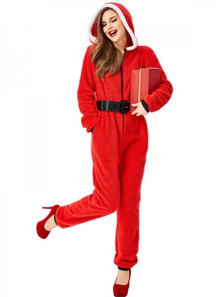 Glamorous Polyester With Belt Christmas Clothes