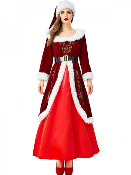 Awesome Polyester With Belt Christmas Clothes