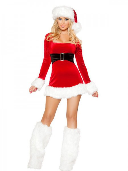 Amazing Polyester With Hat And Socks Christmas Clothes