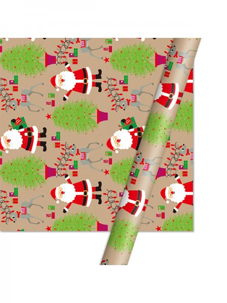 Christmas Amazing Santa Claus Wrapping Paper(10 Pieces)