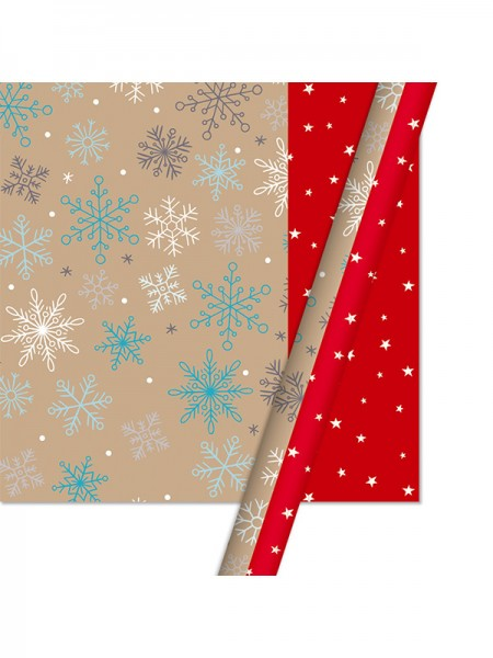 Christmas Beautiful Snowflake Wrapping Paper(10 Pieces)