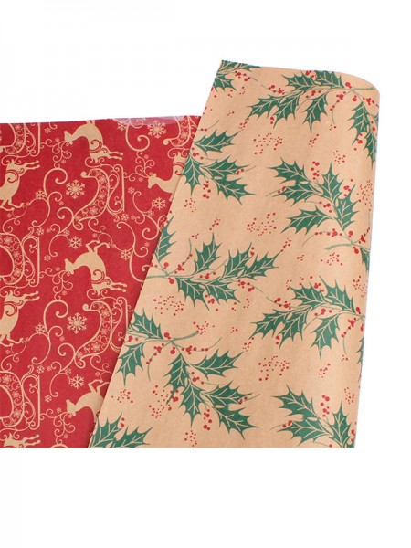 Christmas Beautiful Wapiti Wrapping Paper(10 Pieces)