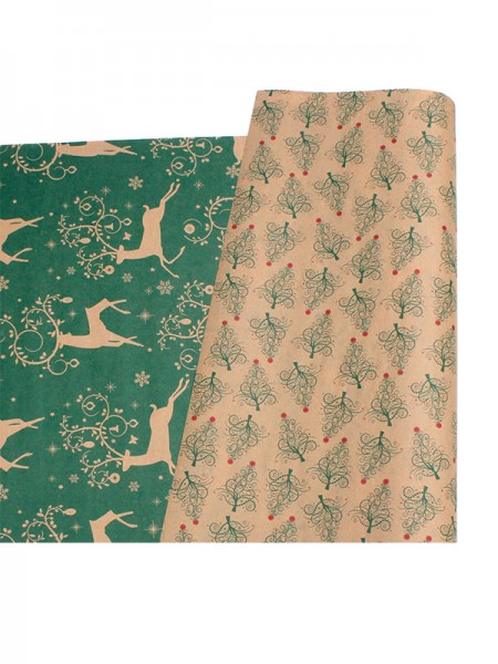 Christmas Gorgeous Wapiti Wrapping Paper(10 Pieces)