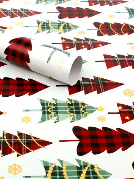 Christmas Charming Tree Wrapping Paper(10 Pieces)