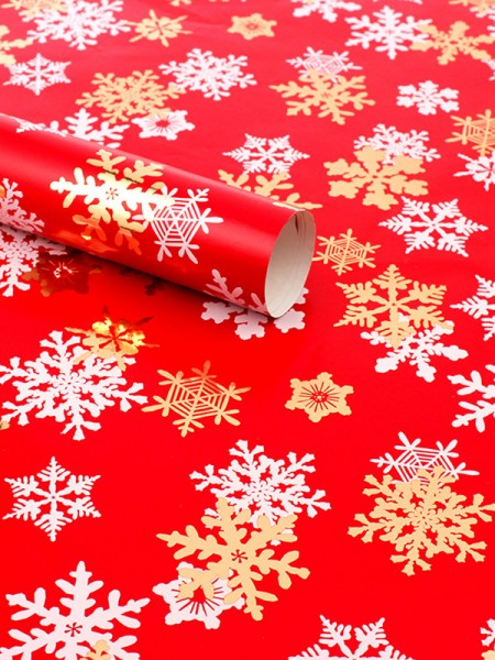 Christmas Stunning Snowflake Wrapping Paper(10 Pieces)