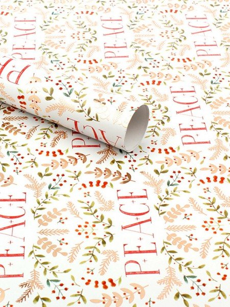 Christmas Lovely Leaf Wrapping Paper(10 Pieces)