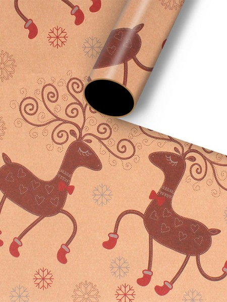 Christmas Charming Wapiti Wrapping Paper(10 Pieces)