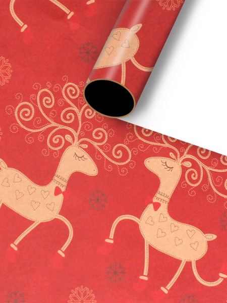 Christmas Chic Wapiti Wrapping Paper(10 Pieces)