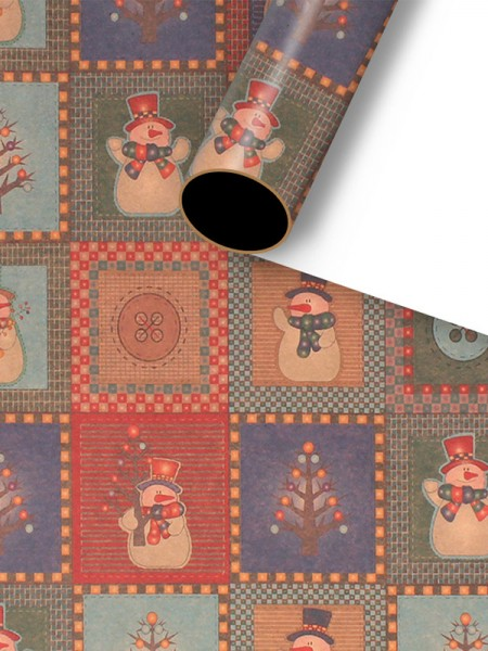 Christmas Nice Snowman Wrapping Paper(10 Pieces)