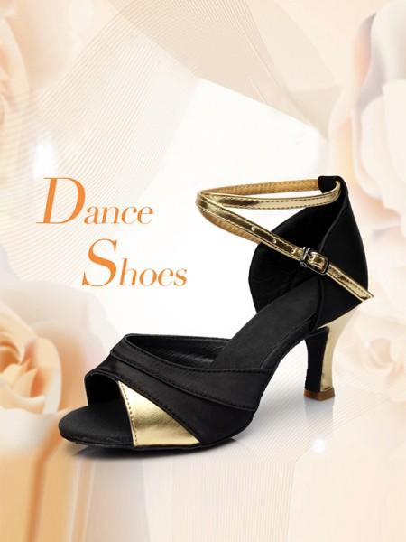 Women's Stiletto Heel Satin Buckle Peep Toe Sandals