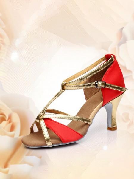 Women's With Buckle PU Peep Toe Kitten Heel Sandals