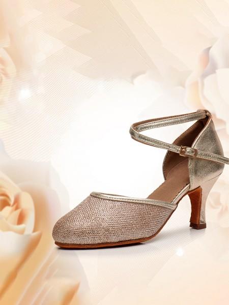 Women's Closed Toe Kitten Heel With Buckle PU Sandals