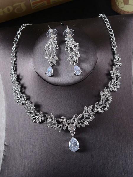 Korean Beautiful Alloy With Rhinestone Ladies's Jewelry Set