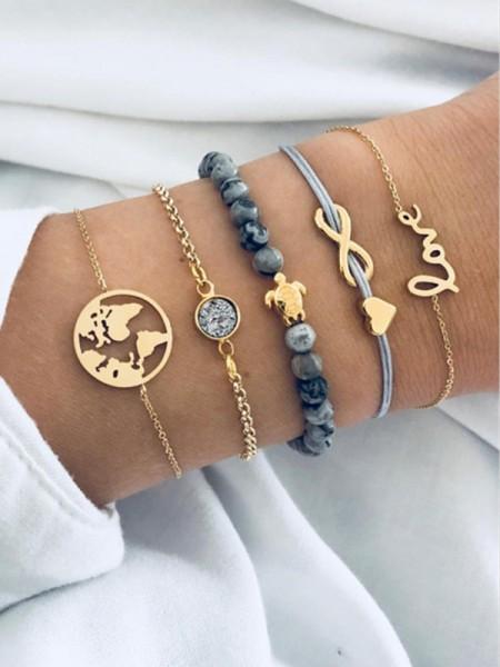 Beautiful Alloy With Ornament Hot Sale Bracelets(5 Pieces)