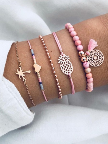 Charming Alloy With Ornament Hot Sale Bracelets(4 Pieces)