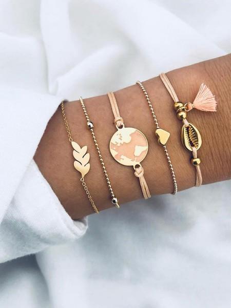 Creative Alloy With Heart Hot Sale Bracelets(5 Pieces)