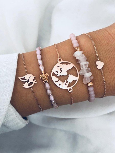 Girly Alloy With Animals Hot Sale Bracelets(5 Pieces)
