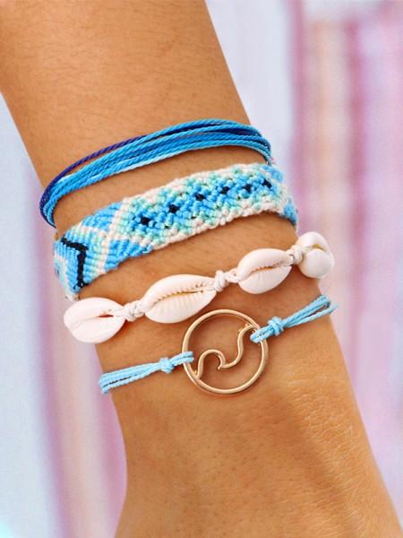 Geometric Shell Hot Sale Bracelets(4 Pieces)