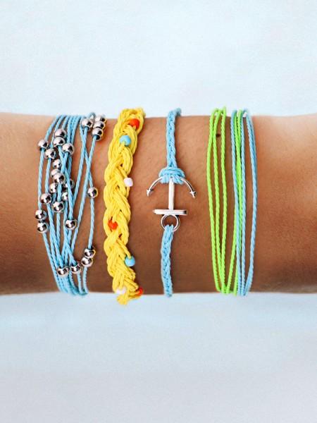 Sundry Alloy With Ornament Hot Sale Bracelets(4 Pieces)