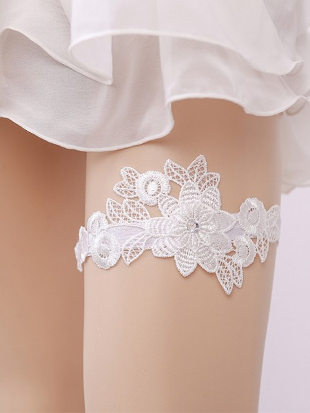 Awesome Bridal/Feminine Lace With Applique Garters