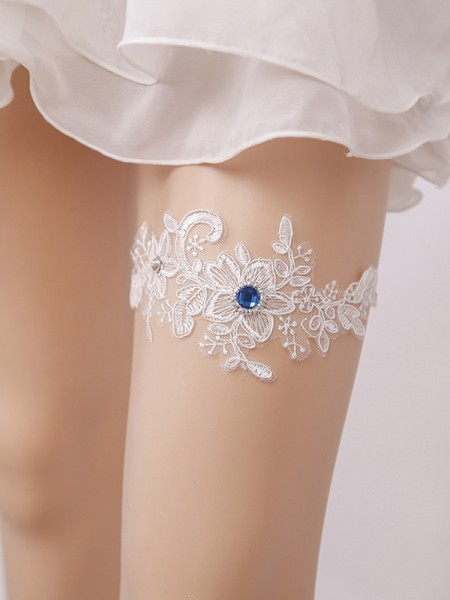 Brilliant Bridal/Feminine Lace With Rhinestone Garters