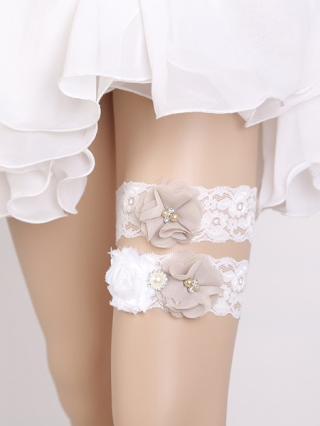 Lovely Bridal/Feminine Lace With Flower Garters