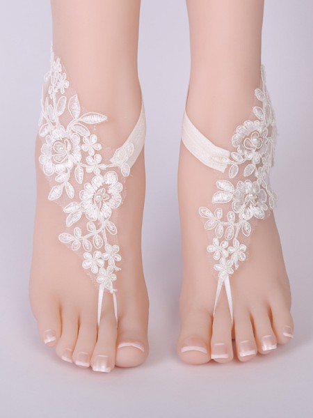Charming Bridal/Feminine Lace With Applique Anklets