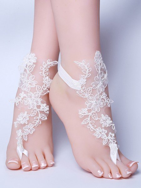 Trendy Bridal/Feminine Lace With Applique Anklets
