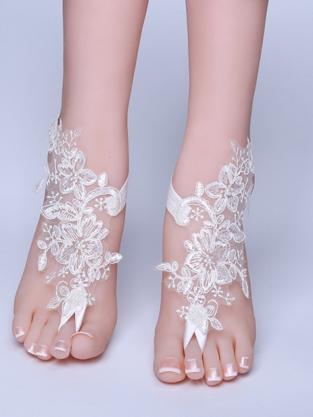 Awesome Bridal/Feminine Lace With Applique Anklets