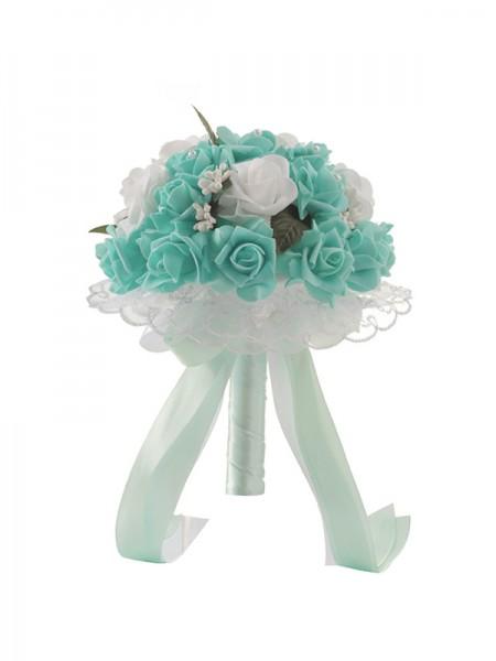 Pretty Round PE Bridal Bouquets