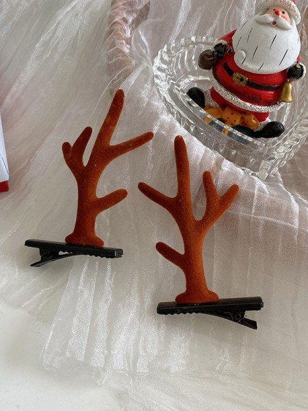 Christmas Unique Cloth With Antler Hairpins(2 Pieces)