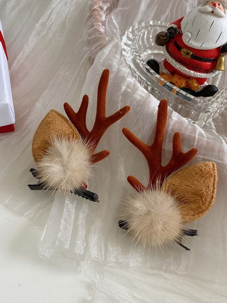 Christmas Trending Cloth With Antler Hairpins(2 Pieces)