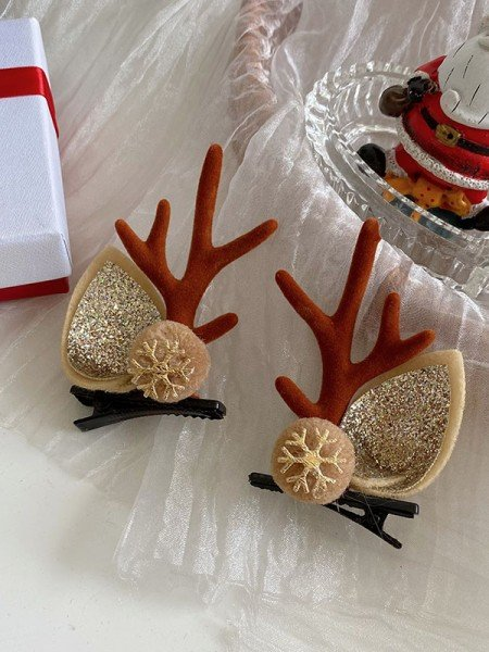 Christmas Amazing Cloth With Antler Hairpins(2 Pieces)