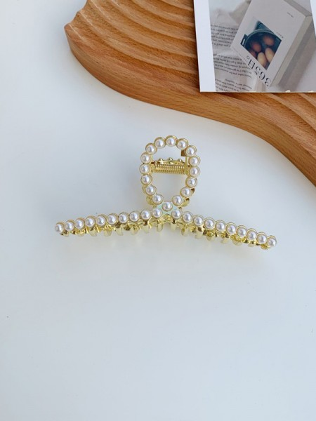 Fascinating Alloy With Imitation Pearl Hair Claw